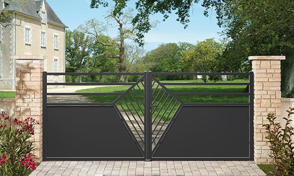 fourniture et installation de portail alu ou pvc. Black Bedroom Furniture Sets. Home Design Ideas