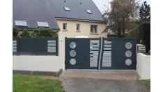 portail clôture assortie